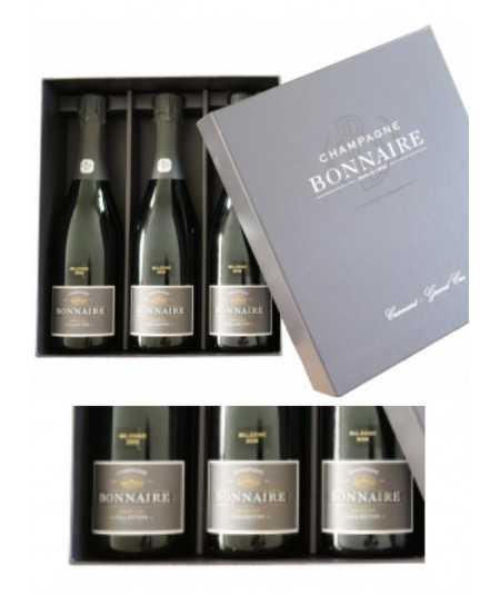 """Champagne BONNAIRE Trilogie – Différentes Vinifications """"Edition Limitée"""" 2008"""