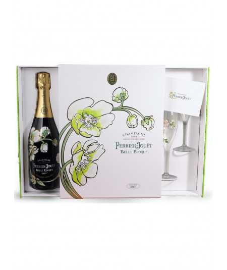 Champagne Gift set PERRIER JOUET Belle Epoque 2008 with 2 glasses