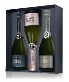 Buy online Champagne gift set CHARLES HEIDSIECK 3 Bottles 75cl (Brut + Blanc De Blancs +Pink)