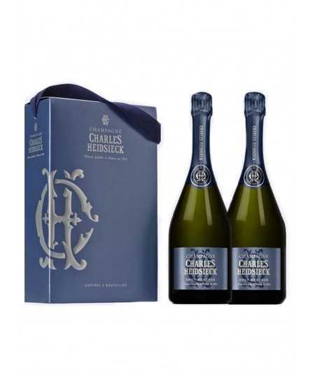 Order online Champagne Gift Set CHARLES HEIDSIECK 2 Bottles Brut Reserve
