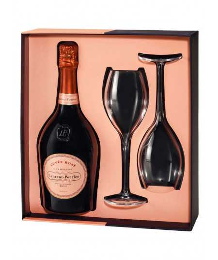 Champagne Gift Set LAURENT-PERRIER pink with 2 flutes