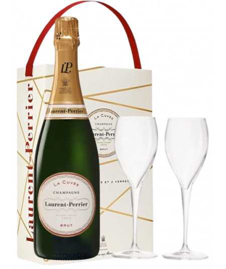 Champagne Gift set LAURENT-PERRIER with 2 glasses