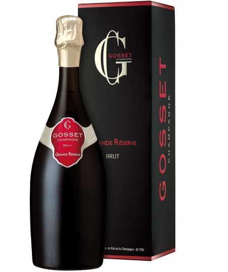 GOSSET Champagne Grande Reserve Brut with packaging
