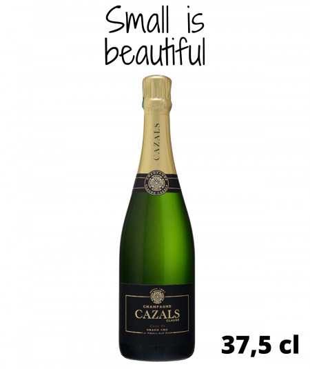 Half Bottle of CLAUDE CAZALS Champagne Carte d'Or Grand Cru
